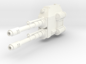 Mech Dual Gun Left Arm in White Strong & Flexible Polished