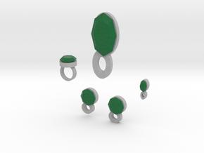 Lara Emerald Jewelry Set  in Full Color Sandstone