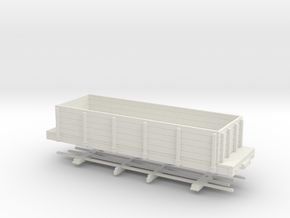 HOn30 24 ft highsided gondola in White Natural Versatile Plastic