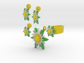 Lazy Daisy  Jewelry Set in Full Color Sandstone