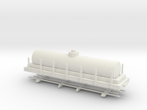 "HOn30 28ft tank car 4'8"" diameter  in White Strong & Flexible"