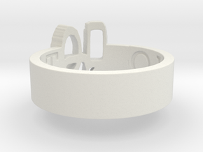 -49 Overcast Brand Ring Size 8 in White Strong & Flexible