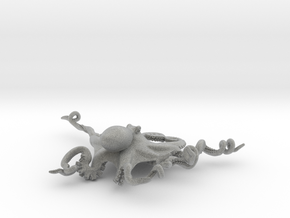 Octopus Pendant in Metallic Plastic