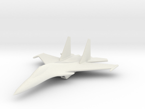 1/285 (6mm) SU-30  in White Natural Versatile Plastic