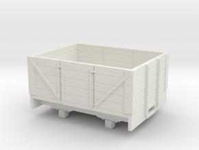 O9/On18 5 plank wagon (kadee)  in White Strong & Flexible