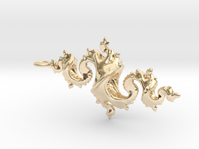 Dragon Pendant 6cm in 14K Yellow Gold