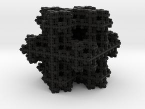 Koch Snowflake sponge in Black Strong & Flexible