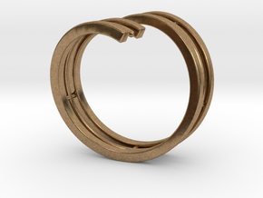 Bars & Wire Ring Size 7½ in Natural Brass