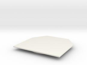 Full Turret Bottom Plate+Ring in White Natural Versatile Plastic