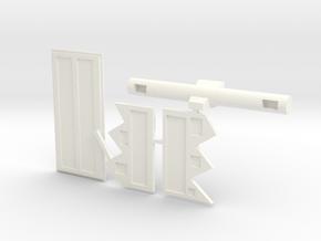 Full Turret Accessories in White Processed Versatile Plastic