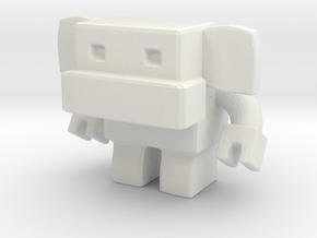 Robot 0037 Monkey Robot v1 in White Natural Versatile Plastic