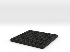 mini chess table in Black Natural Versatile Plastic