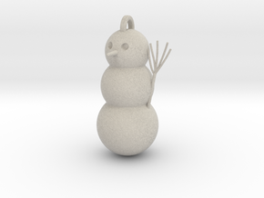 Geometric Snowman 01 in Natural Sandstone