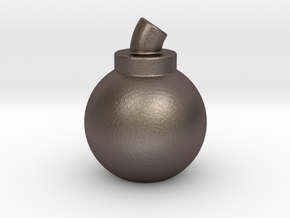 Bomb in Polished Bronzed Silver Steel
