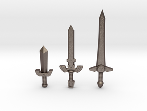 Time Sword Pack in Polished Bronzed Silver Steel