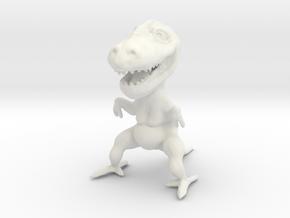 Fat Dinosaur in White Natural Versatile Plastic