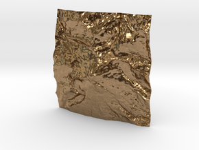 3'' Mt. Baker, Washington, USA, WSF in Natural Brass