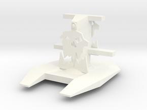 Gun Deck w periscope and tree no guns in White Processed Versatile Plastic