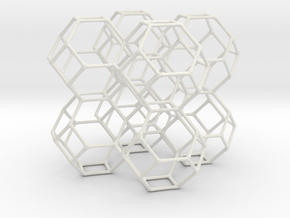 Body Centered Cubic in White Natural Versatile Plastic