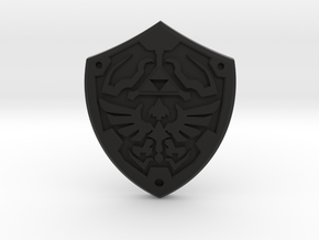 Royal Shield II in Black Natural Versatile Plastic