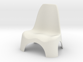 Garden Chair 1/10 in White Natural Versatile Plastic