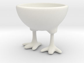 Feet Egg Cup in White Natural Versatile Plastic