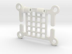 HeadBandHeadSide in White Natural Versatile Plastic