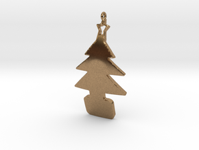 xmas tree pendant in Natural Brass