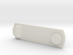 "Hidden ""Anything"" Mini Mount Plate in White Natural Versatile Plastic"