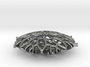 Rosetta Snowflake Pendant in Polished Silver