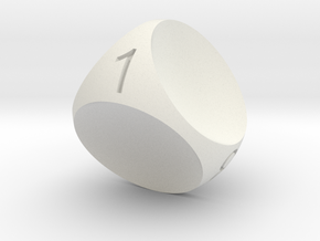 D4 Concave Dice in White Strong & Flexible