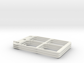 SD cardholder (component), pack of three in White Natural Versatile Plastic