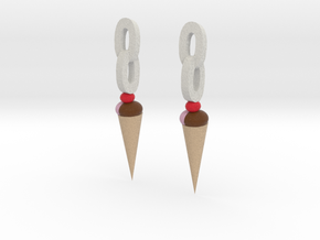 Ice Cream earrings in Full Color Sandstone