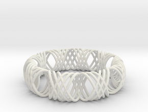 bracelet spirals 1 in White Natural Versatile Plastic