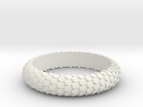 Dragon Scale Ring in White Strong & Flexible