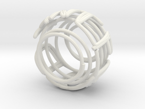 Swirl (30) in White Natural Versatile Plastic