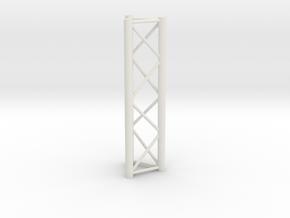 Truss, miniature 1:10 in White Natural Versatile Plastic