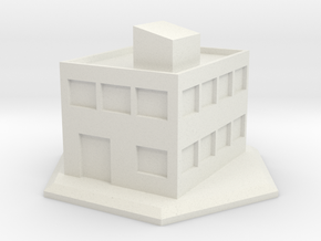 6mm - Small office building in White Natural Versatile Plastic