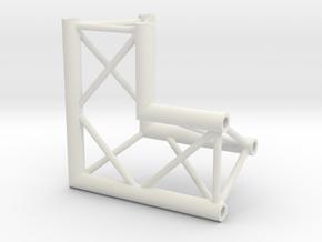Truss DT33 corner miniature in White Natural Versatile Plastic