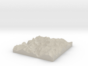 Model of Mount Crowder in Sandstone