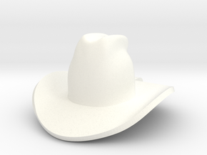 cowboy hat in White Processed Versatile Plastic