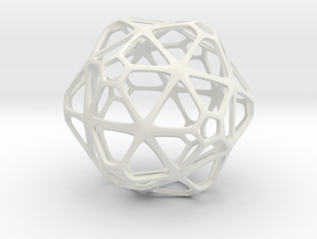 GridBall  in White Natural Versatile Plastic
