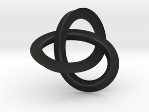 umbilic trefoil knot 1 in Black Strong & Flexible