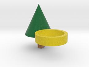 Xmas Tree Ring in Full Color Sandstone
