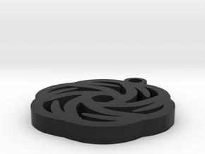 Rose Pendant - Image Popper in Black Strong & Flexible