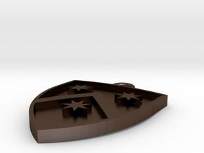 Heraldic Pendant (One possible design) in Polished Bronze Steel