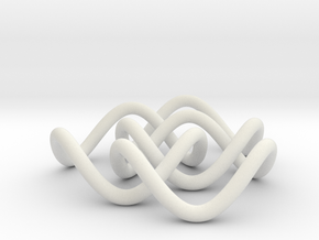 Borromean 6cm, thin in White Strong & Flexible