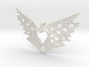 another variation on a heart takes flight in White Natural Versatile Plastic