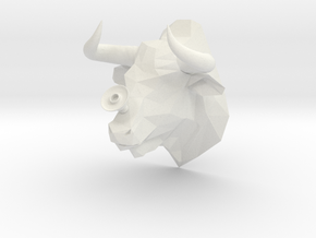 Bull in White Natural Versatile Plastic