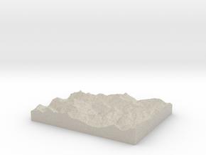 Model of Le Villard in Natural Sandstone